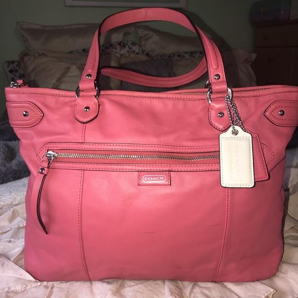 Coach Handbags - Coach Salmon Handbag